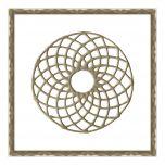 DecoGraph M Circle in Antique Gold