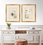 Shiken Floral Panels IV - Set of Two
