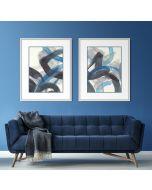 Blue Brushy Abstract I